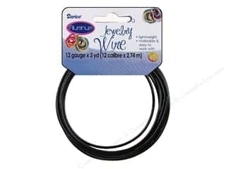 beading & jewelry making supplies: Darice Aluminum Jewelry Wire 12 Gauge Black 3 yd.