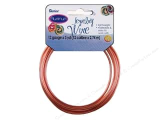 beading & jewelry making supplies: Darice Aluminum Jewelry Wire 12 Gauge Copper 3 yd.