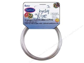 beading & jewelry making supplies: Darice Aluminum Jewelry Wire 14 Gauge Silver 3 yd.