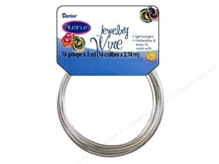 beading & jewelry making supplies: Darice Aluminum Jewelry Wire 16 Gauge Silver 3 yd.
