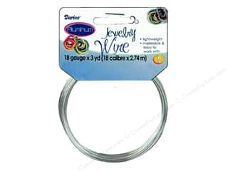 beading & jewelry making supplies: Darice Aluminum Jewelry Wire 18 Gauge Silver 3 yd.