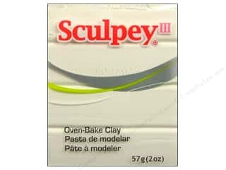 acrylic paint: Sculpey III Clay 2 oz. White