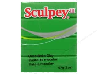 acrylic paint: Sculpey III Clay 2 oz. String Bean