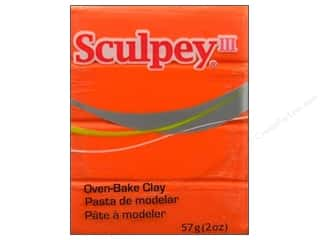 acrylic paint: Sculpey III Clay 2 oz. Just Orange