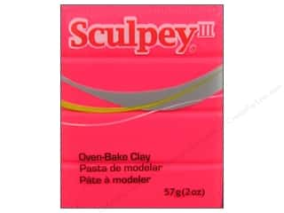 acrylic paint: Sculpey III Clay 2 oz. Hot Pink
