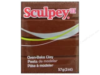 Polymer Clay: Sculpey III Clay 2 oz. Chocolate