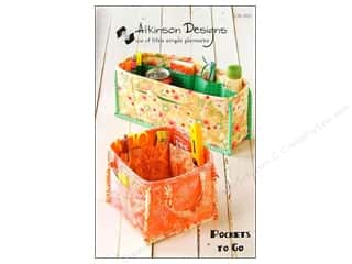 Tote Bags / Purses Patterns: Atkinson Designs Pockets To Go Pattern