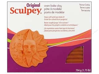 acrylic paint: Sculpey Original Clay 1.75 lb. Terra Cotta