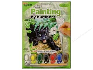 Royal Rub Ons: Royal Paint By Number Kit Mini Black Leopard