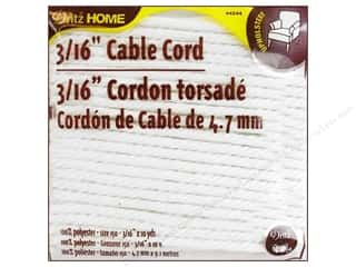 Cable Cord by Dritz Home White 3/16 in. x 10 yd.