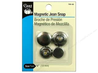Magnetic Jean Snap by Dritz 3/4 in. Antique Silver 2 pair