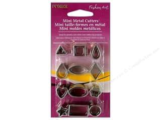 jewelry cutters: Premo! Sculpey Mini Metal Cutters 12 pc. Basic Shapes