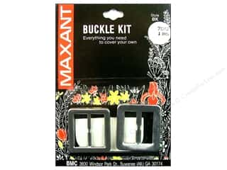"Maxant Button & Supply: Maxant Covered Buckle Kit 1"" Square"