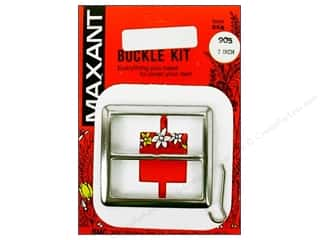 "Maxant Button & Supply: Maxant Covered Buckle Kit 2"" Square"