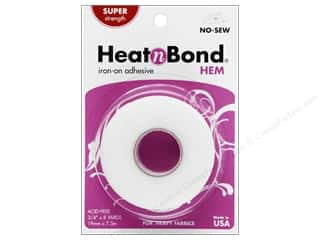 "heat n bond iron-on adhesive: Heat n Bond Iron-on Hem Adhesive Super Weight 3/4""x 8yd"