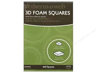 Therm O Web Permanent SuperTape : Therm O Web 3D Foam Squares 1/4 & 1/2 in. Combo Pack 440 pc. White