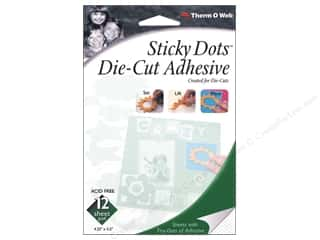 die cuts: Therm O Web Sticky Dots Adhesive Sheets 4 1/2 x 5 1/2 in. 12 pc.