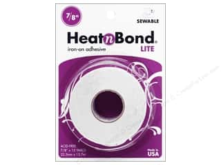 glues, adhesives & tapes: HeatnBond Lite Iron-on Adhesive 7/8 in. x 15 yd.