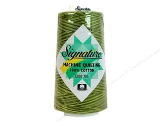 Signature 100% Cotton Thread 3000 yd. #F152 Variegated Olive Hues