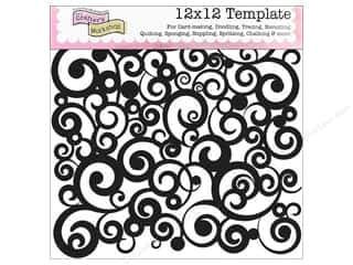 The Crafter's Workshop Template 12 x 12 in. Cosmic Swirl