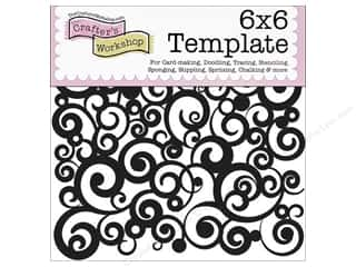 ruler: The Crafter's Workshop Template 6 x 6 in. Cosmic Swirl
