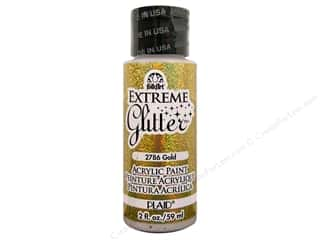 craft & hobbies: Plaid FolkArt Extreme Glitter Paint 2 oz. Gold