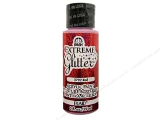 Plaid FolkArt Extreme Glitter Paint 2 oz. Red