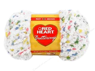 Clearance Red Heart Pomp A Doodle Yarn: Red Heart Buttercup Yarn #4271 White Multi 72 yd.
