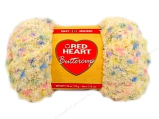 Clearance Red Heart Pomp A Doodle Yarn: Red Heart Buttercup Yarn #4273 Light Yellow Multi 72 yd.