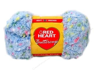Clearance Red Heart Pomp A Doodle Yarn: Red Heart Buttercup Yarn #4276 Light Blue Multi 72 yd.