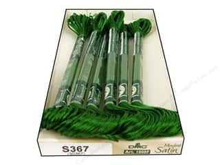 yarn & needlework: DMC Satin Embroidery Floss #S367 Bay Leaf (6 skeins)