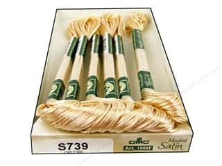yarn & needlework: DMC Satin Embroidery Floss #S793 Eggshell (6 skeins)