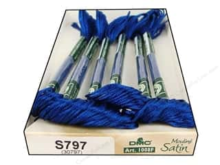 yarn & needlework: DMC Satin Embroidery Floss #S797 Royal Blue (6 skeins)
