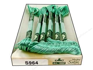 yarn & needlework: DMC Satin Embroidery Floss #S964 Frosten Green (6 skeins)