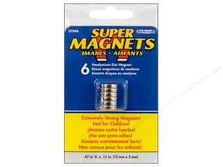craft & hobbies: The Magnet Source Super Neodymium Magnet Discs 1/2 in. 6 pc.