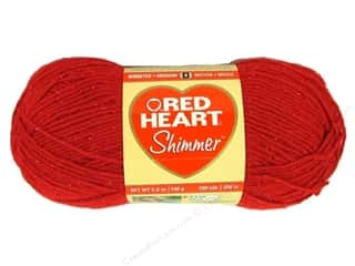 shimmer yarn: Red Heart Shimmer Yarn #1929 Red 280 yd.
