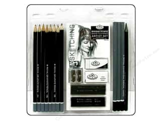 colored pencils: Royal Artist Essentials Sketching Set 21 pc.