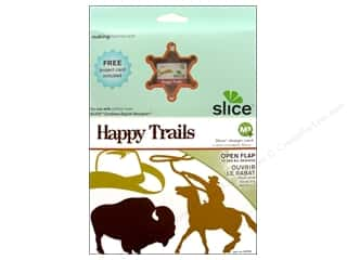 dies: Making Memories Slice Design Card Happy Trails