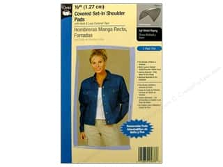 Covered Set In Shoulder Pads by Dritz 1/2 in. Black