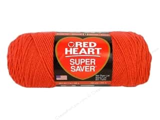 yarn & needlework: Red Heart Super Saver Yarn #0726 Coral 364 yd.