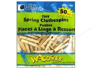 Woodsies Tiny Spring Clothespins 50 pc.