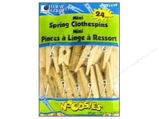 Weekly Specials Scrapbooking Kits: Woodsies Mini Spring Clothespins 24 pc.