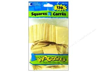 Woodsies Wood Shapes Squares 130 pc.