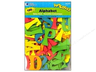 Woodsies Wood Shapes Alphabet 100 pc. Colored