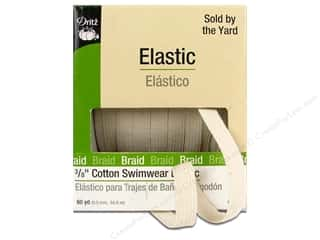 elastic: Dritz Cotton Swimwear Elastic 3/8 in x 60 yd. Natural (60 yards)