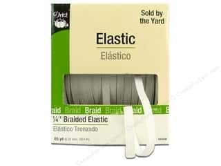 elastic: Dritz Braided Elastic 1/4 in. x 65 yd. White (65 yards)