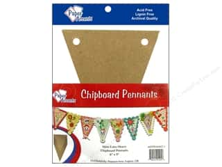 Paper Accents Chipboard Pennants 6 x 9 in. 9 pc. Kraft