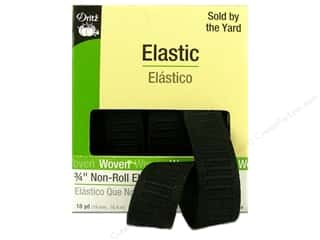 3/4 non roll elastic: Non-Roll Elastic by Dritz Black 3/4 in x 18 yd (18 yards)