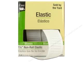 3/4 non roll elastic: Non-Roll Elastic by Dritz White 1 1/4 in x 10 yd (10 yards)