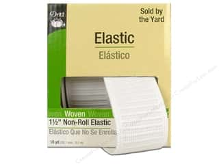 Dritz Non-Roll Elastic 1 1/2 in. x 10 yd. White (10 yards)